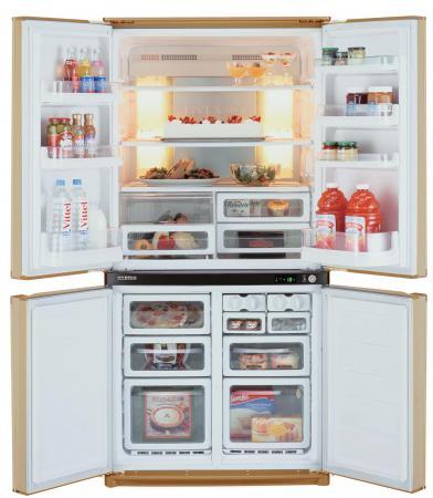 Холодильник Side by Side Sharp SJF95STBE бежевый sharp sj f 95 stbe