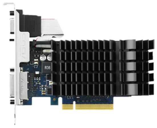 Видеокарта 2048Mb ASUS GeForce GT730 с CUDA PCI-E 64bit GDDR5 DVI HDCP HDMI GT730-SL-2GD5-BRK Retail видеокарта asus geforce gt 710 2 sl 954mhz pci e 2 0 2048mb 1800mhz 64 bit dvi hdmi hdcp