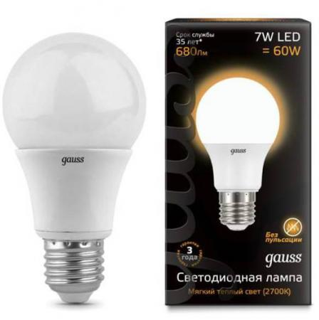 Купить Лампа светодиодная шар Gauss E27 7W 2700K 102502107 Электролампы