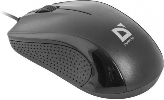 Мышь проводная DEFENDER Optimum MB-160 чёрный USB 52160 мышь defender optimum mb 150 черный ps 2