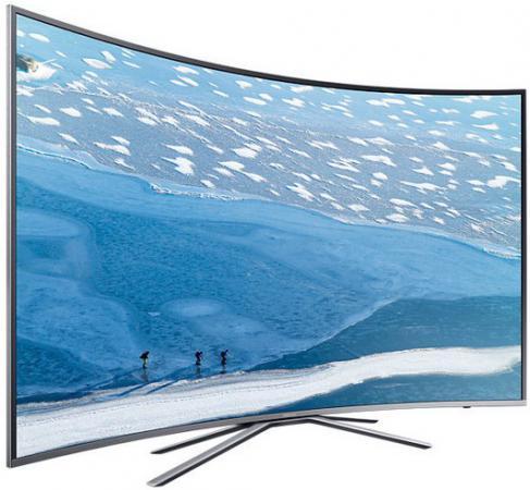 Телевизор LED 43 Samsung UE43KU6500UXRU серебристый 3840x2160 1600 Гц Wi-Fi USB купить samsung ue 37 d 6500