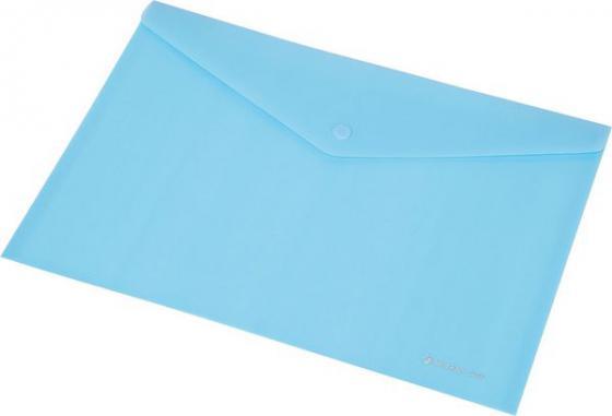 Купить Папка-конверт на кнопке FOCUS, ф. А4,вместител.120 листов, PP,160 мкр, голубой 0410-0030-03 Папки