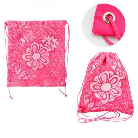 Купить Мешок для обуви ACTION by TIGER, Цветы, разм.37 х 33 см, розовый, для девочек 21012/A/2G Мешки для сменной обуви
