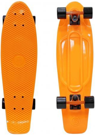 Купить Скейтборд Y-SCOO Fishskateboard Print 22 RT винил 56,6х15 с сумкой ORANGE/black 401-O Скейтборды