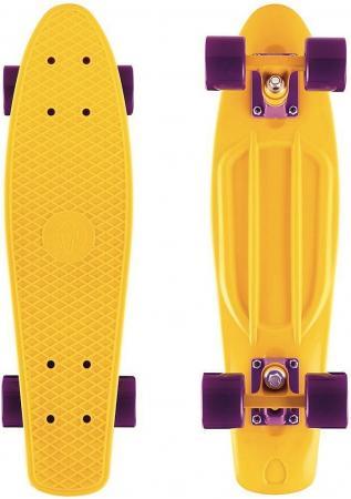 Купить Скейтборд Y-SCOO Fishskateboard Print 22 RT винил 56,6х15 с сумкой YELLOW/dark purple 401-Y Скейтборды