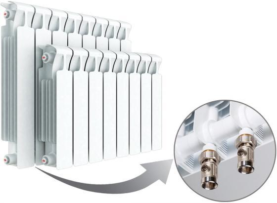 Биметаллический радиатор RIFAR Monolit Ventil 350 10 сек. прав. (Кол-во секций: 10; Мощность, Вт: 1340; Подключение: правое) биметаллический радиатор rifar monolit ventil mvr 350 04