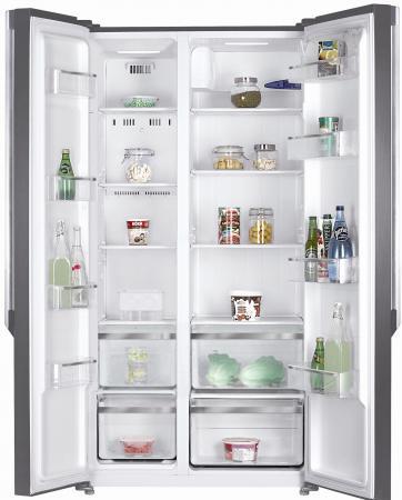 Холодильник Side by Side Kraft KF-F2661NFL черный холодильник side by side samsung rs 57 k 4000 sa