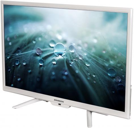 "Телевизор 24"" Erisson 24 LES 78 Т2 белый 1366x768 50 Гц USB HDMI VGA"