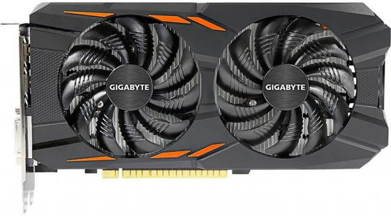 Видеокарта 4096Mb Gigabyte GeForce GTX1050 Ti PCI-E 128bit GDDR5 DVI HDMI DP HDCP GV-N105TWF2OC-4GD Retail видеокарта gigabyte radeon rx 560 1300mhz pci e 3 0 4096mb 7000mhz 128 bit dvi hdmi hdcp gv rx560gaming oc 4gd