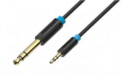 Кабель соединительный 5.0м Vention 6.5 Jack (M) - 3.5 Jack (M) BABBJ кабель jack jack vention кабель minijack jack 2 m