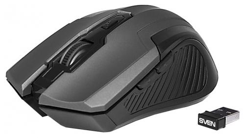 Мышь беспроводная Sven RX-355 чёрный USB