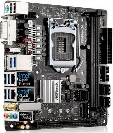 все цены на  Материнская плата ASRock H270M-ITX/AC Socket 1151 H270 2xDDR4 1xPCI-E 16x 6xSATAIII mini-ITX Retail  онлайн