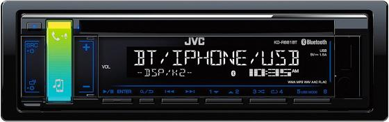 Автомагнитола JVC KD-R881BT USB MP3 CD FM RDS 1DIN 4x50Вт черный стул компьютерный tetchair step