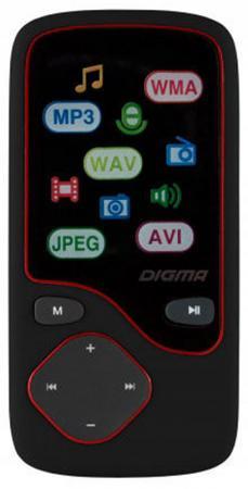 Плеер Digma Cyber 3L 4Gb черный/красный  цена