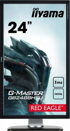 "Монитор 24"" iiYama G-Master GB2488HSU-B3 черный TFT-TN 1920x1080 350 cd/m^2 1 ms DVI HDMI DisplayPort Аудио USB"