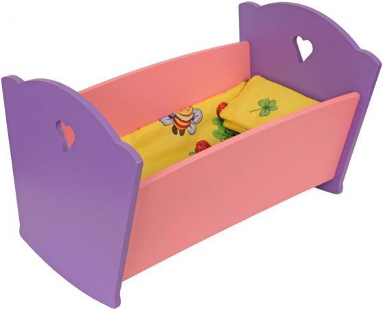 Купить Набор мебели Краснокамская игрушка Кроватка с постельным бельем КМ-02 Аксессуары для кукол