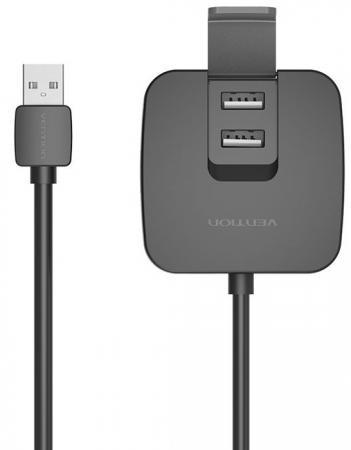 Концентратор USB 2.0 Vention VAS-J51-B100 4 x USB 2.0 черный