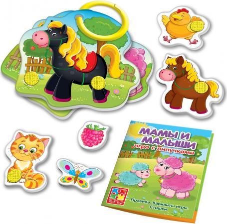 Настольная игра развивающая Vladi toys Мама и малыш с липучками VT1310-02 vladi toys настольная игра мама и малыш