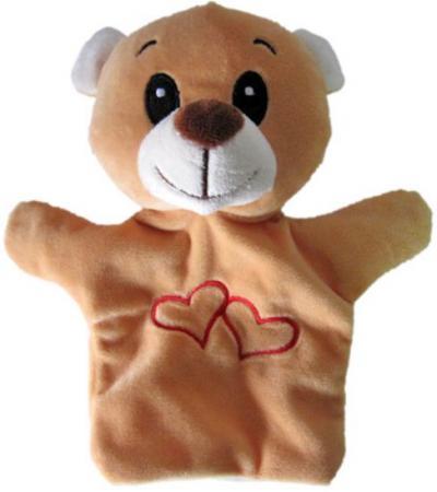 Купить Кукла на руку Shantou Gepai Мишка с сердечком 23 см STW305A-BR Игровые наборы Детский театр