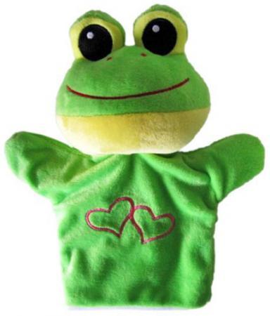 Купить Кукла на руку Shantou Gepai Лягушка с сердечком 23 см STW305A-FRG Игровые наборы Детский театр