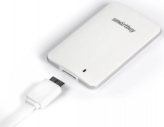Внешний жесткий диск 2.5 USB3.0 SSD 256Gb SmartBuy S3 SB256GB-S3DW-18SU30 белый