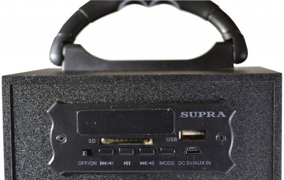 все цены на  Портативная акустикаSupra BTS-550 черный  онлайн