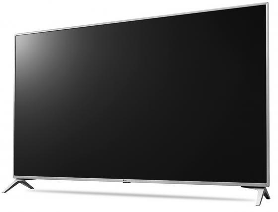 """Телевизор 49"""" LG 49UJ651V серебристый черный 3840x2160 Wi-Fi Smart TV RJ-45 Bluetooth S/PDIF"""
