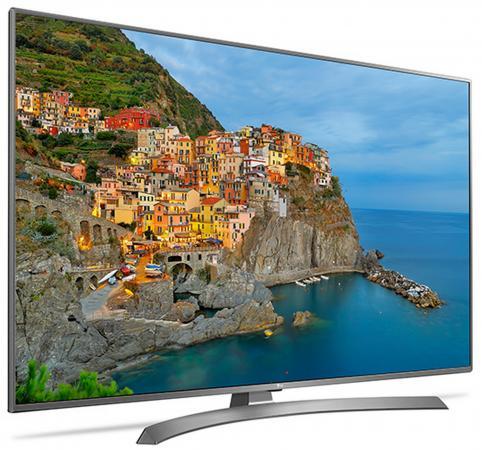 "Телевизор 49"" LG 49UJ670V серебристый 3840x2160 Wi-Fi Smart TV RJ-45"