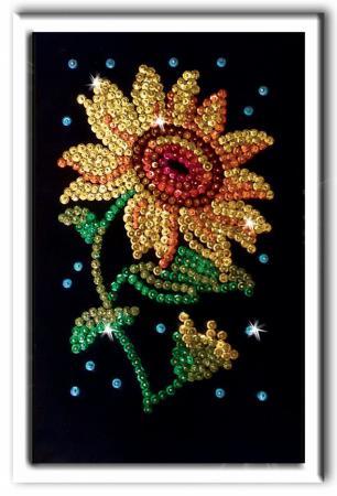 Мозайка из пайеток Волшебная мастерская Подсолнух мозайка из пайеток волшебная мастерская лилии 23