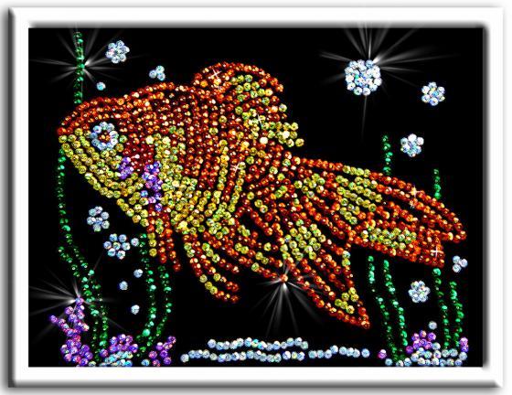 Мозайка из пайеток Волшебная мастерская Золотая рыбка 020 мозаика из пайеток волшебная мастерская золотая рыбка