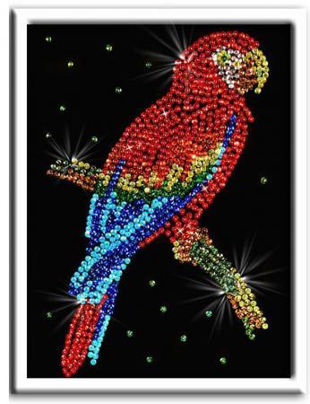 Мозайка из пайеток Волшебная мастерская Попугай Какаду 027 мозайка из пайеток волшебная мастерская попугай какаду 027
