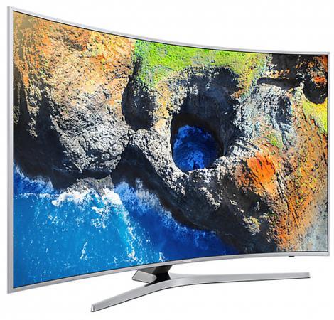 Телевизор LED 55 Samsung UE55MU6500UXRU серебристый 3840x2160 Wi-Fi Smart TV RJ-45 купить samsung ue 37 d 6500