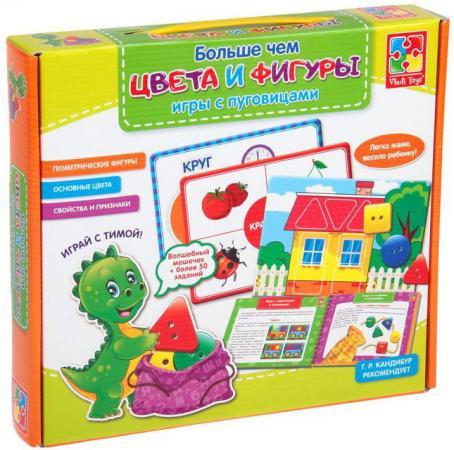 Настольная игра развивающая Vladi toys Больше чем цвета и фигуры VT2801-10 vladi toys развивающая игра больше чем математика