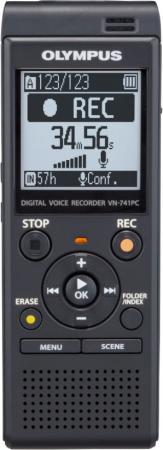 Купить Цифровой диктофон Olympus VN-741PC 4Гб черный Диктофоны