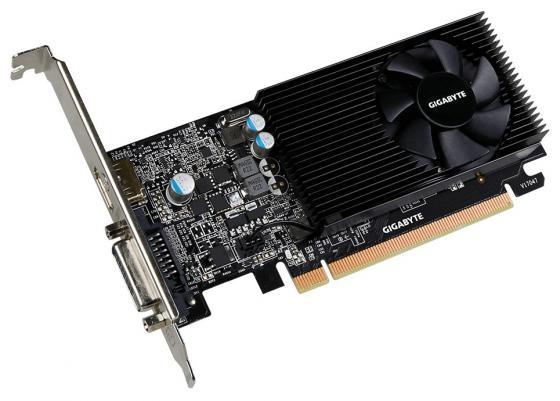 Видеокарта 2048Mb Gigabyte GeForce GT1030 PCI-E DDR5 64bit DVI HDMI GV-N1030D5-2GL Retail видеокарта gigabyte geforce gt 1030 2048mb gt 1030 gv n1030oc 2gi dvi d hdmi ret