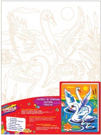 Купить Набор для росписи по холсту Креатто Лебеди от 3 лет 30895 Роспись по холсту и дереву