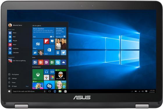 """Ноутбук ASUS TP501UQ-DN081T 15.6"""" 1920x1080 Intel Core i7-7500U 1 Tb 8Gb nVidia GeForce GT 940M серый Windows 10 90NB0CV1-M00930"""