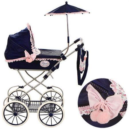 Коляска для кукол DeCuevas Романтик с сумкой и зонтиком 81014 коляска i
