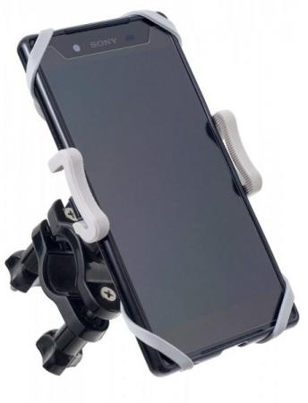 Держатель Perfeo PH-302 до 6 на руль велосипеда или штангу черный серый