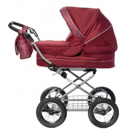 Коляска для новорожденного Amalfy GB6628 (bordo) amalfy люлька gb 6628 bаrdo