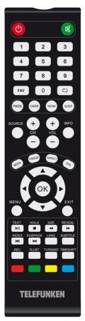 """Телевизор LED 32"""" Telefunken TF-LED32S54T2 черный 1366x768 50 Гц SCART VGA"""
