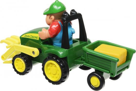 Трактор-погрузчик Tomy «Моя первая ферма» Набор с погрузчиком 43068 разноцветный машинки tomy трактор john deere monster treads с большими резиновыми колесами tomy