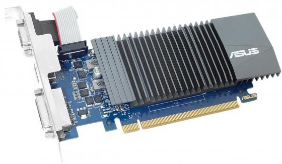 Видеокарта 2048Mb ASUS GeForce GT710 PCI-E 64bit GDDR5 DVI HDMI CRT HDCP GT710-SL-2GD5 Retail видеокарта asus geforce gt 710 2 sl 954mhz pci e 2 0 2048mb 1800mhz 64 bit dvi hdmi hdcp