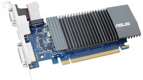 Видеокарта 1024Mb ASUS GeForce GT710 PCI-E 64bit GDDR5 DVI HDMI CRT HDCP GT710-SL-1GD5 Retail видеокарта asus geforce gt 710 2 sl 954mhz pci e 2 0 2048mb 1800mhz 64 bit dvi hdmi hdcp