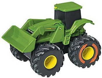 Трактор Tomy Monster Treads 10 см зеленый трактор tomy john deere зеленый 19 см с большими колесами звук свет