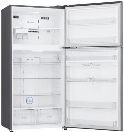 Холодильник LG GR-H802HMHZ серебристый холодильник lg lg gr n281hlq белый