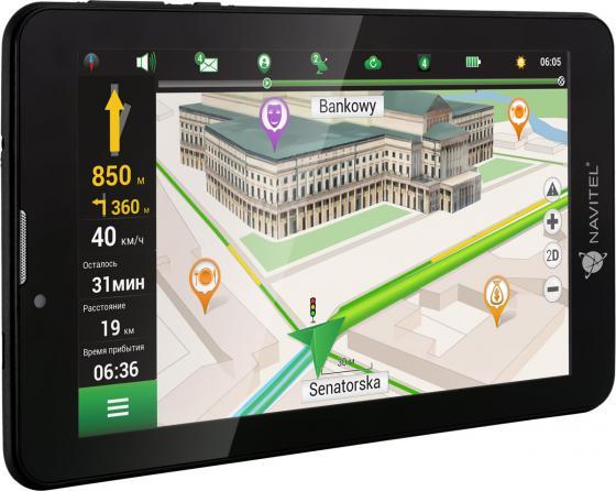 Навигатор Navitel T700 3G 7 1024x600 16GB microSD черный + Navitel