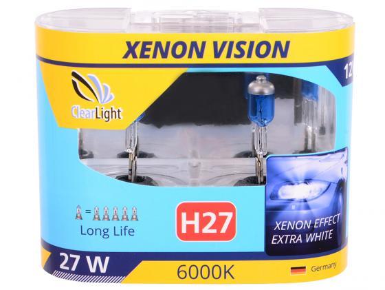 Купить Лампа Галогеновая с эффектом ксенона 6000К H27(Clearlight)12V-55W XenonVision (2 шт.) Автосвет