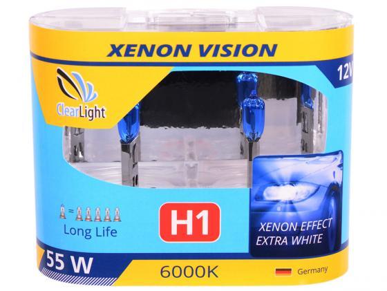 Купить Лампа Галогеновая с эффектом ксенона 6000К H1(Clearlight)12V-55W XenonVision (2 шт.) Автосвет