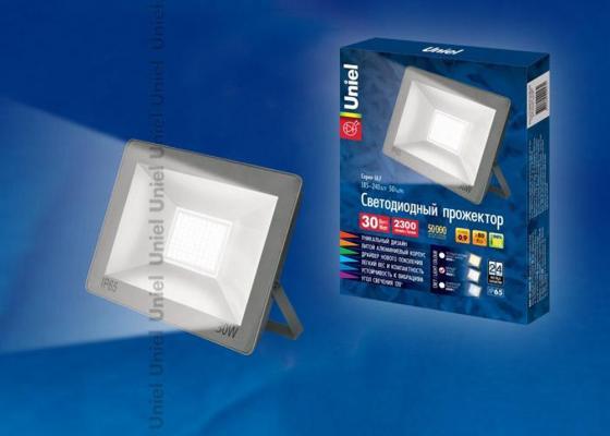 Купить Прожектор светодиодный (UL-00001849) Uniel 30W 4000K ULF-F15-30W/NW IP65 185-240В Silver Прожекторы